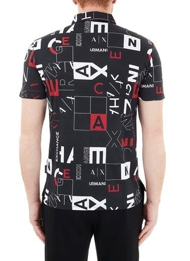 Armani Exchange  % 100 Pamuklu Regular Fit Polo T Shirt Erkek Polo 3Kzffd Zjh4Z 5203 Siyah